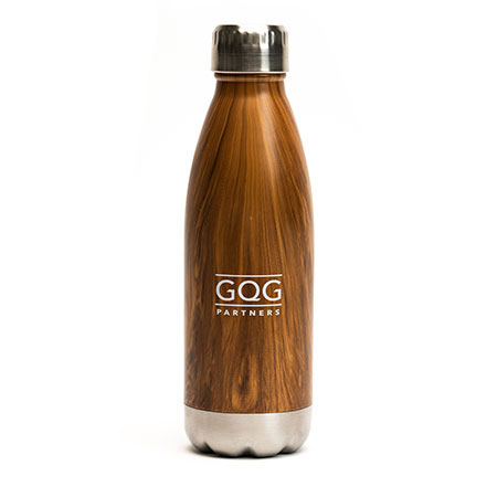 Promotional Stainless Steel Woodtone Water Bottles