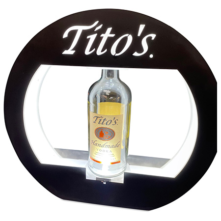 Tito's Custom Round Bottle Presenter