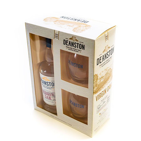 Whiskey Value Added Packaging with Whiskey Glasses