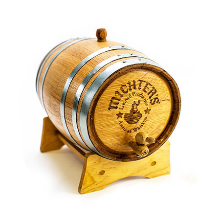 Wood Whiskey Barrel Display