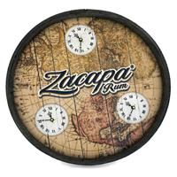 Wood-barrel-head-clock-time-zones