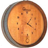 Wood-barrel-wall-clock