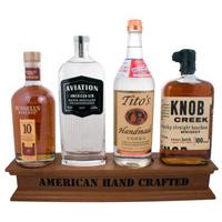 Wood-bottle-display