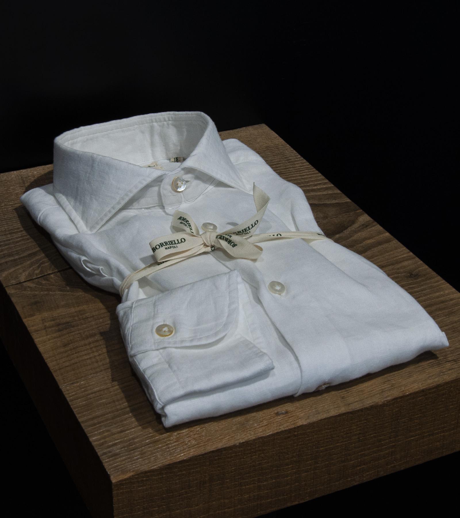 Camicia lino BORRIELLO | 6 | LINO CAPRIBIANCO