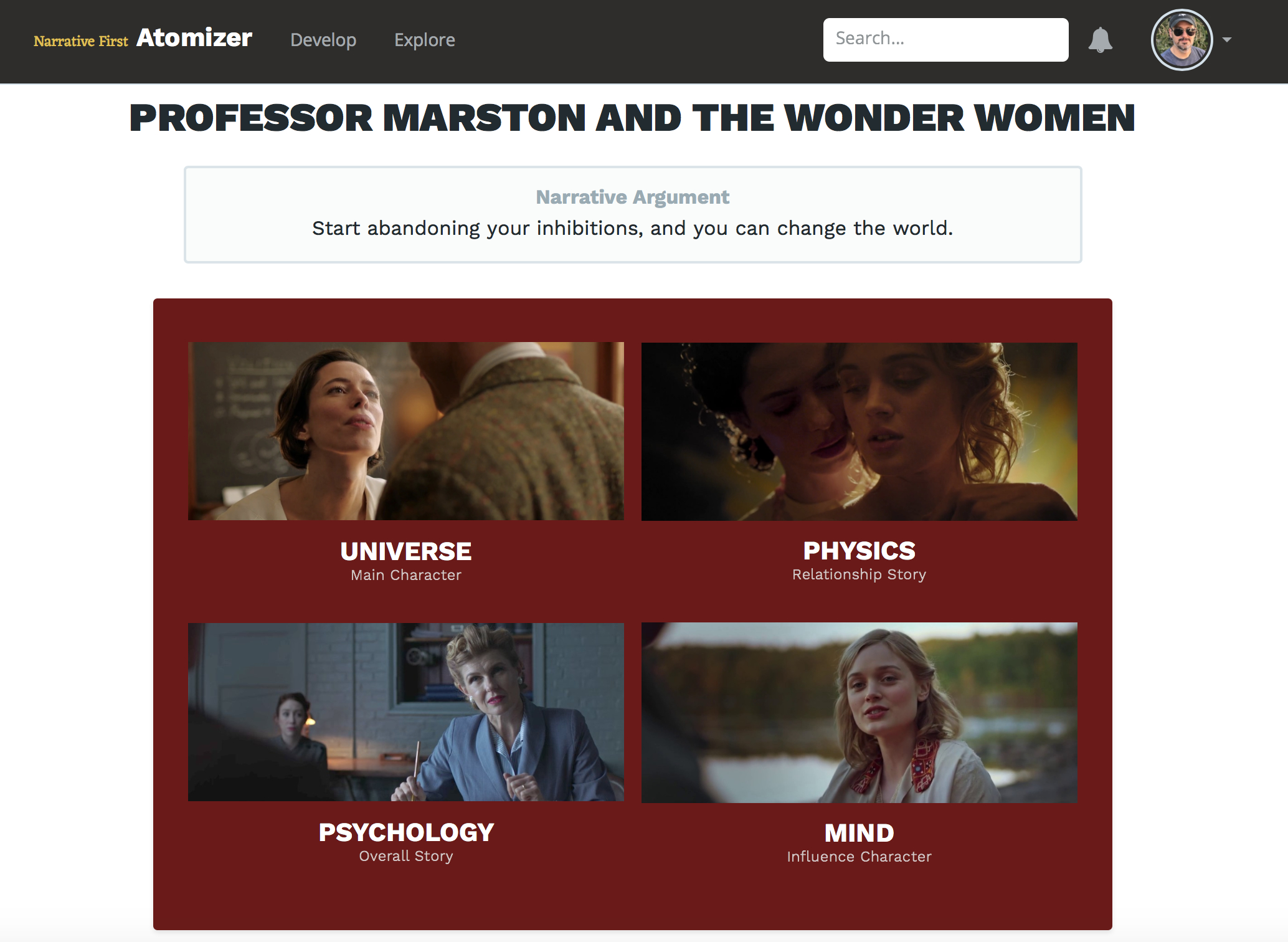The Four Throughlines of *Professor Marston and the Wonder Women*