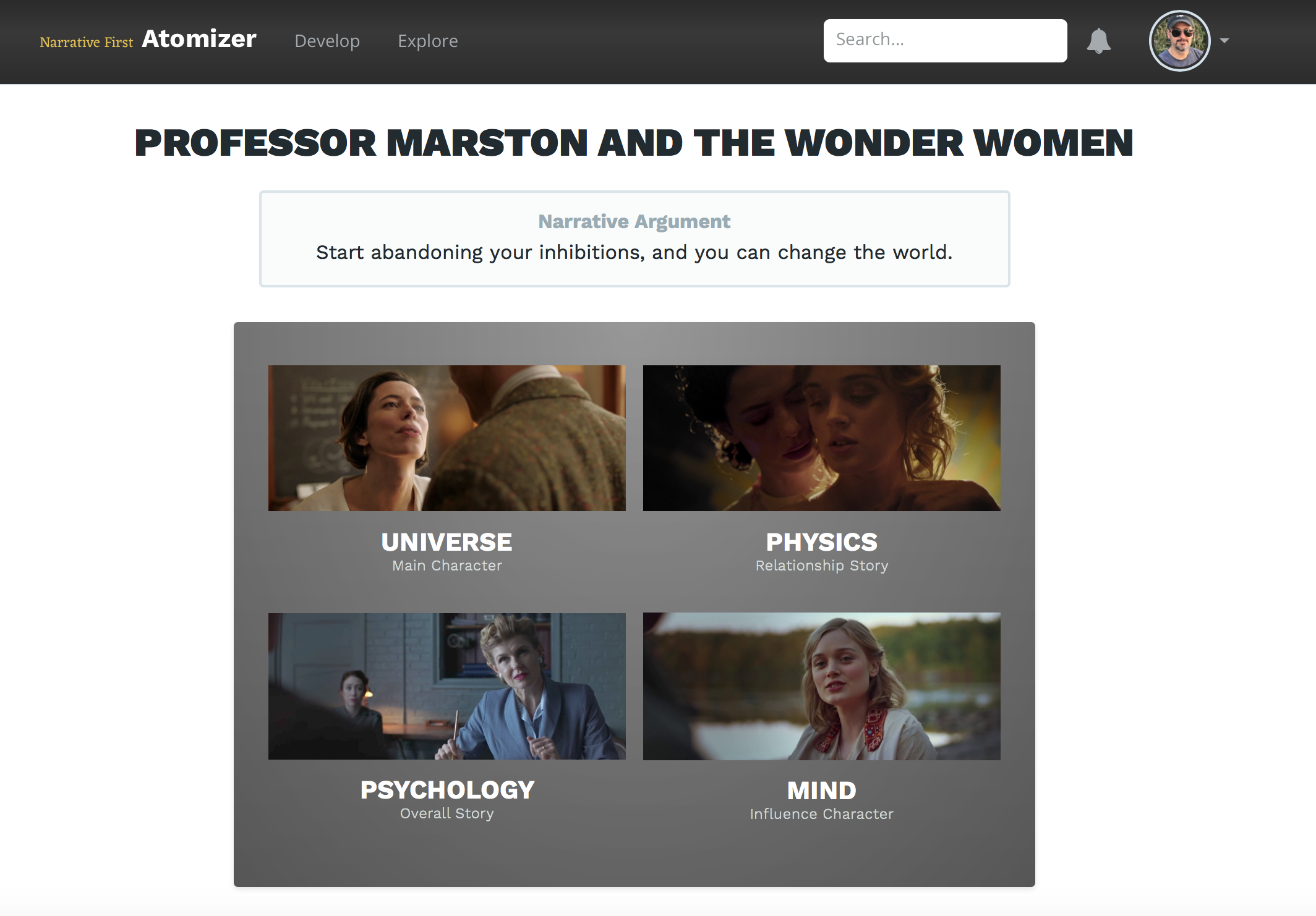 The Narrative Argument for _Professor Marston and the Wonder Women_