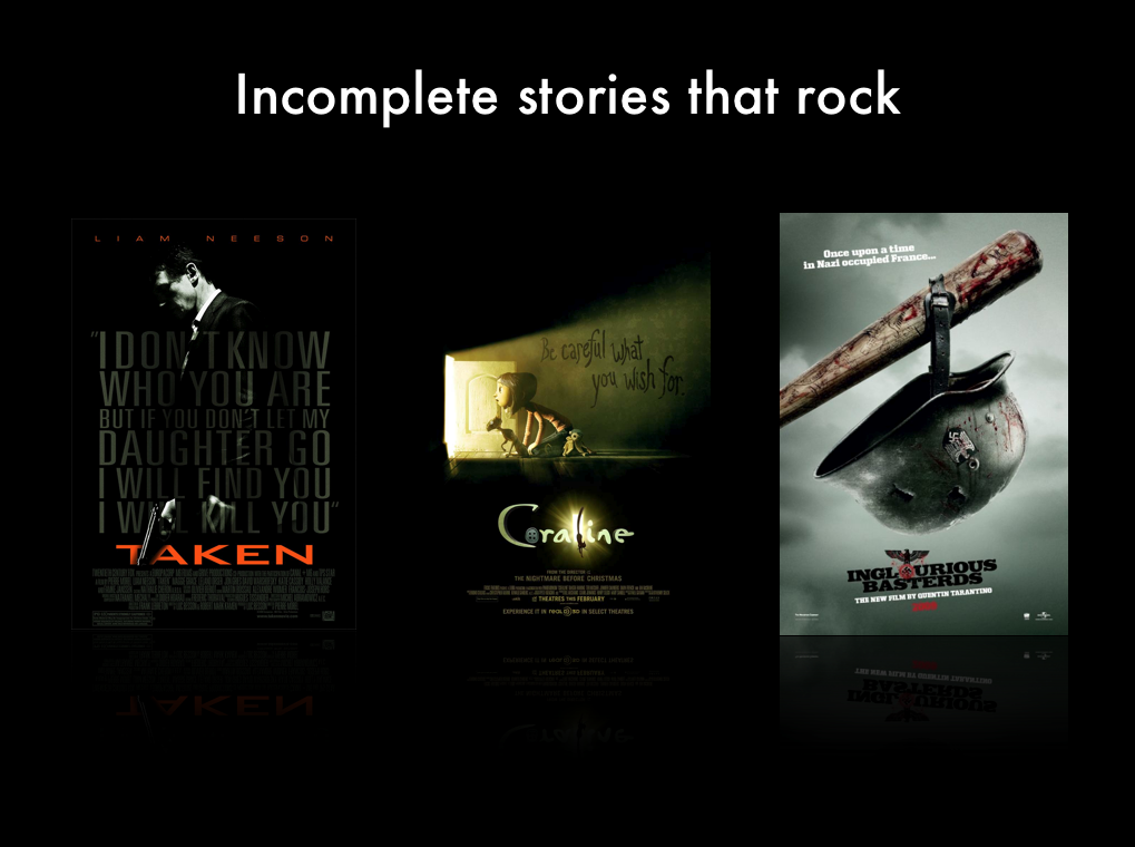 Incomplete Stories that Rock