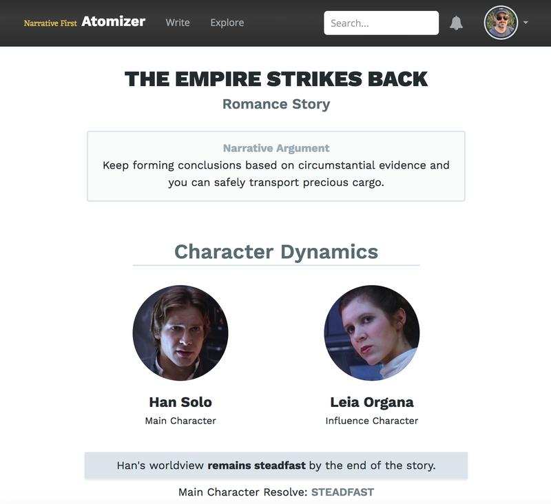 The second storyform for _The Empire Strikes Back