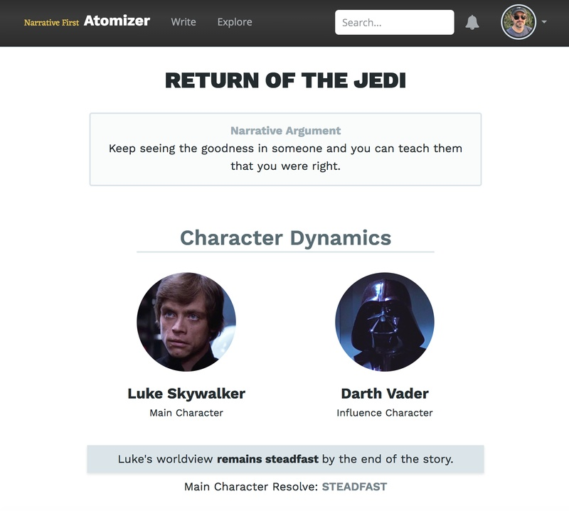 The storyform for _Return of the Jedi_