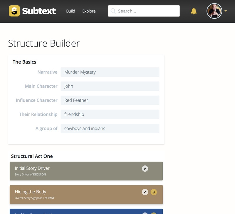 The Structure Builder in Subtext