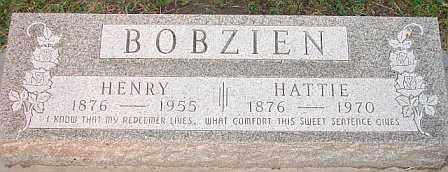 BOBZIEN, HATTIE - Adams County, Nebraska   HATTIE BOBZIEN - Nebraska Gravestone Photos
