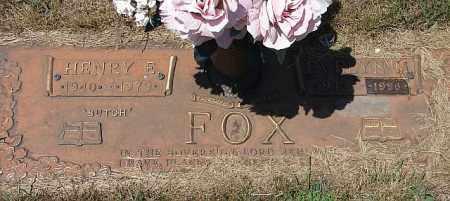 FOX, HENRY EDWARD - Adams County, Nebraska   HENRY EDWARD FOX - Nebraska Gravestone Photos