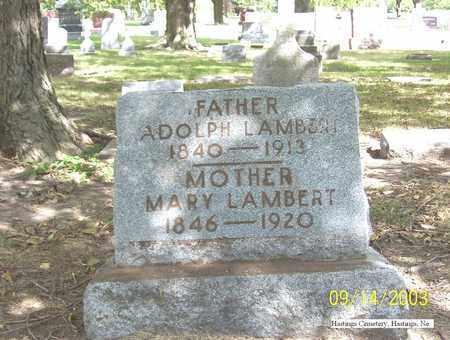 LAMBERT, ADOLPH - Adams County, Nebraska   ADOLPH LAMBERT - Nebraska Gravestone Photos