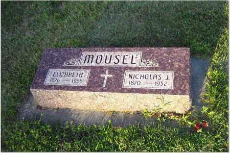 MOUSEL, NICHOLAS & ELIZABETH - Adams County, Nebraska | NICHOLAS & ELIZABETH MOUSEL - Nebraska Gravestone Photos