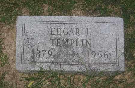 TEMPLIN, EDGAR LAFAYETTE - Adams County, Nebraska | EDGAR LAFAYETTE TEMPLIN - Nebraska Gravestone Photos
