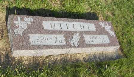 UTECHT, VIOLA E - Adams County, Nebraska   VIOLA E UTECHT - Nebraska Gravestone Photos