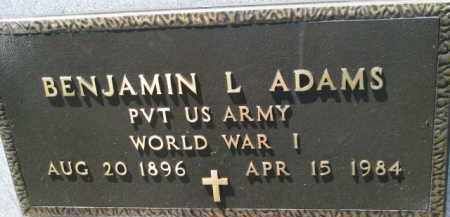 ADAMS, BENJAMIN L. (WW I MARKER) - Antelope County, Nebraska   BENJAMIN L. (WW I MARKER) ADAMS - Nebraska Gravestone Photos