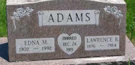 HOLMES ADAMS, EDNA M - Antelope County, Nebraska   EDNA M HOLMES ADAMS - Nebraska Gravestone Photos
