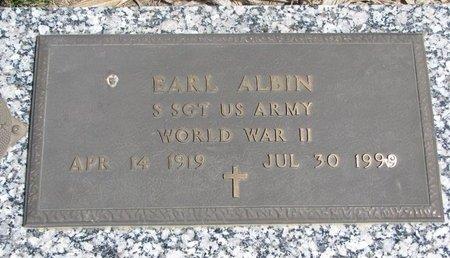 ALBIN, EARL - Antelope County, Nebraska   EARL ALBIN - Nebraska Gravestone Photos