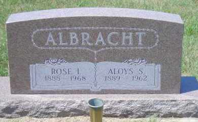 ALBRACHT, ALOYS S - Antelope County, Nebraska | ALOYS S ALBRACHT - Nebraska Gravestone Photos