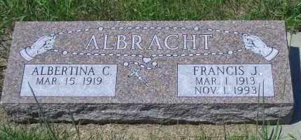 ALBRACHT, FRANCIS J - Antelope County, Nebraska   FRANCIS J ALBRACHT - Nebraska Gravestone Photos