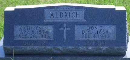 ALDRICH, DON C - Antelope County, Nebraska | DON C ALDRICH - Nebraska Gravestone Photos