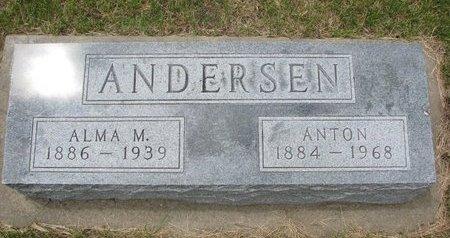 ANDERSEN, ANTON - Antelope County, Nebraska   ANTON ANDERSEN - Nebraska Gravestone Photos