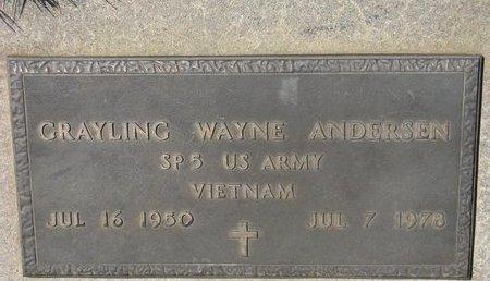 ANDERSEN, GRAYLING WAYNE - Antelope County, Nebraska   GRAYLING WAYNE ANDERSEN - Nebraska Gravestone Photos