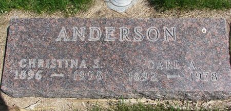 ANDERSON, CHRISTINA S. - Antelope County, Nebraska | CHRISTINA S. ANDERSON - Nebraska Gravestone Photos