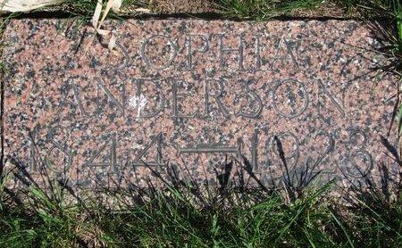 ANDERSON, SOPHIA - Antelope County, Nebraska | SOPHIA ANDERSON - Nebraska Gravestone Photos