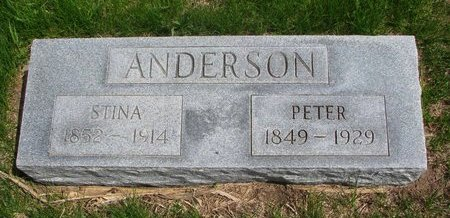 ANDERSON, STINA - Antelope County, Nebraska | STINA ANDERSON - Nebraska Gravestone Photos
