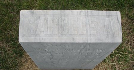 ANDERTON, MARCELE A. (TOP OF STONE) - Antelope County, Nebraska | MARCELE A. (TOP OF STONE) ANDERTON - Nebraska Gravestone Photos