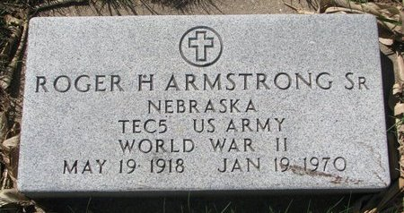 ARMSTRONG, ROGER H. SR. (MILITARY) - Antelope County, Nebraska | ROGER H. SR. (MILITARY) ARMSTRONG - Nebraska Gravestone Photos