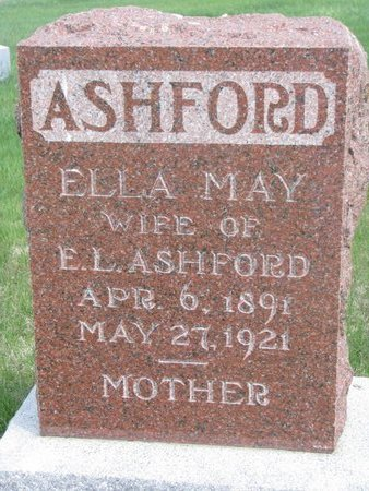 ASHFORD, ELLA MAY - Antelope County, Nebraska   ELLA MAY ASHFORD - Nebraska Gravestone Photos