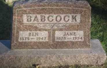 BABCOCK, BEN - Antelope County, Nebraska | BEN BABCOCK - Nebraska Gravestone Photos
