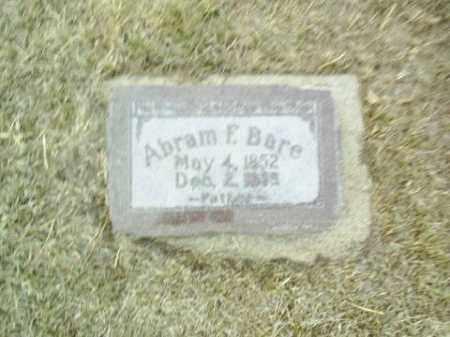 BARE, ABRAM - Antelope County, Nebraska   ABRAM BARE - Nebraska Gravestone Photos