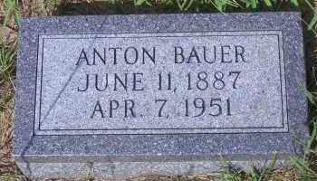 BAUER, ANTON - Antelope County, Nebraska   ANTON BAUER - Nebraska Gravestone Photos