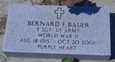 BAUER, BERNARD F (MILITARY) - Antelope County, Nebraska | BERNARD F (MILITARY) BAUER - Nebraska Gravestone Photos