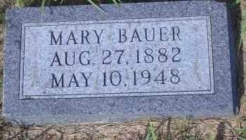 BAUER, MARY - Antelope County, Nebraska | MARY BAUER - Nebraska Gravestone Photos