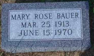 BAUER, MARY ROSE - Antelope County, Nebraska | MARY ROSE BAUER - Nebraska Gravestone Photos