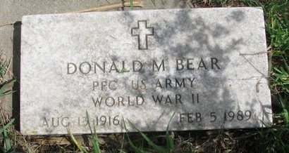 BEAR, DONALD M. - Antelope County, Nebraska | DONALD M. BEAR - Nebraska Gravestone Photos