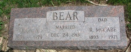 BEAR, OLGA A. - Antelope County, Nebraska | OLGA A. BEAR - Nebraska Gravestone Photos
