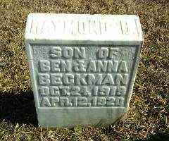BECKMAN, RAYMOND D - Antelope County, Nebraska | RAYMOND D BECKMAN - Nebraska Gravestone Photos