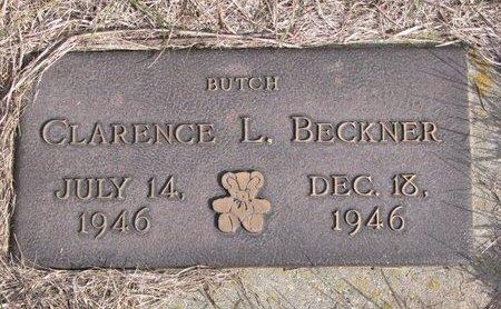 BECKNER, CLARENCE L. - Antelope County, Nebraska   CLARENCE L. BECKNER - Nebraska Gravestone Photos