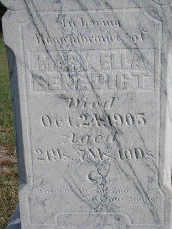 BENEDICT, MARY ELLA (CLOSE UP) - Antelope County, Nebraska | MARY ELLA (CLOSE UP) BENEDICT - Nebraska Gravestone Photos