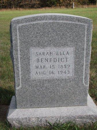 BENEDICT, SARAH ELLA - Antelope County, Nebraska   SARAH ELLA BENEDICT - Nebraska Gravestone Photos