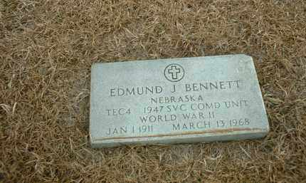 BENNETT, EDMUND J - Antelope County, Nebraska | EDMUND J BENNETT - Nebraska Gravestone Photos