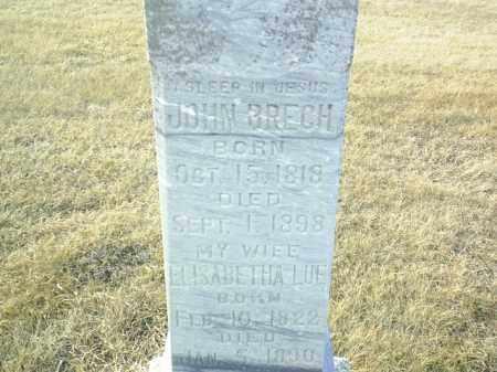 BRECH, JOHN - Antelope County, Nebraska | JOHN BRECH - Nebraska Gravestone Photos