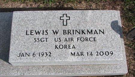 BRINKMAN, LEWIS W. - Antelope County, Nebraska | LEWIS W. BRINKMAN - Nebraska Gravestone Photos