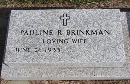 BRINKMAN, PAULINE R. - Antelope County, Nebraska | PAULINE R. BRINKMAN - Nebraska Gravestone Photos